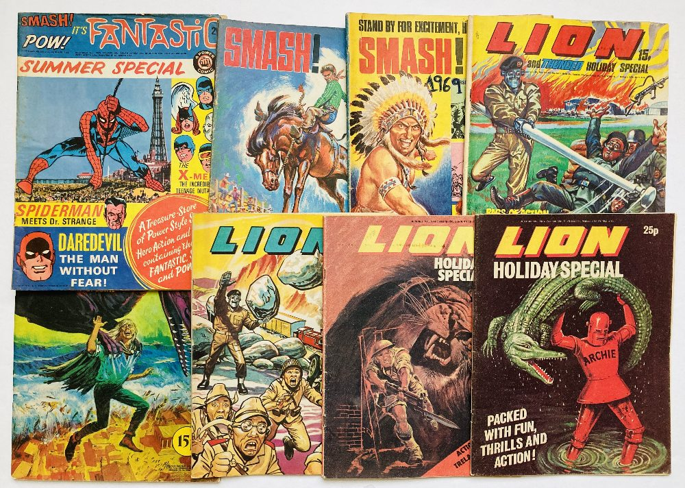 Lot 55 - Fantastic Summer Special 1 (1968), Smash Holiday Special 1, 2 (1969, 1970). Only these two issues