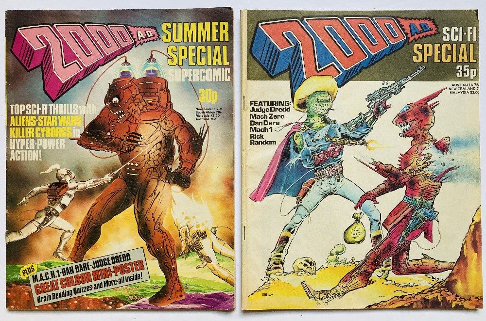 Lot 69 - 2000AD Summer Special 1 (1977) including Great Colour Mini-Poster with 2000AD Sci-Fi Special (No