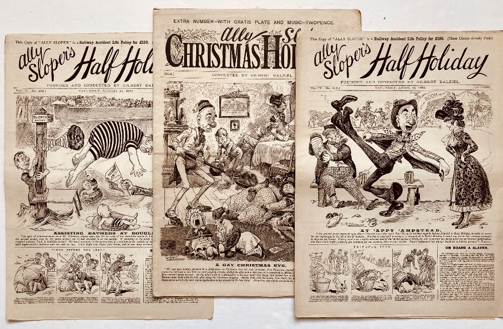 Lot 1 - Ally Sloper's Half-Holiday (1891-92). 1891 comprises 41 issues between Nos 349-400 including Ally