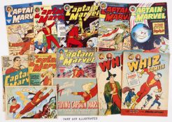 Captain Marvel Adventures (L Miller 1940s-50s) 1, 7, 9, 18, 20, 22, 56, 69-71, 75, 76. With Whiz (