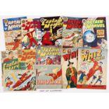 Captain Marvel Adventures (L Miller 1940s-50s) 1, 7, 9, 18, 20, 22, 56, 69-71, 75, 76. With Whiz (