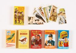 Sweet Cigarette boxes (1960s). Thunderbirds, Amos Burke Secret Agent, Space Patrol (with rear