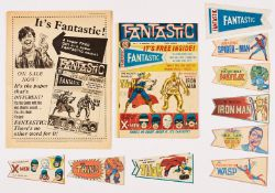 Fantastic No 1 (1967) wfg Fantastic Pennant Wallet and all 8 cut-out colour pennants: Amazing
