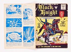 Black Knight 1 (1955 L Miller). Worn spine with 3 ins centre split and 1 ins top and bottom split [