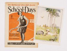 School-Days No 71 (1930) with free gift 'What Christopher Robin does in the mornings' colour plate