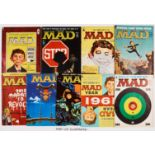 MAD magazine (UK editions 1959-63) 1-7, 9-30. Bright covers, cream pages, rusty staples. No 11 [vg],