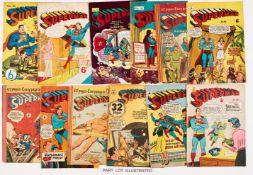 Superman Australian reprints (1950s) 21, 31, 50, 51, 81-83, 86, 91, 96, 105-107, 109. No 109 [