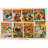 Jet (1971) No 1-22. Complete run with first Buster and Jet 2 Oct 1971. 3rd July (No 10) has half