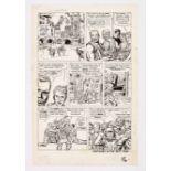 Sgt Fury #2 pg 16 (1963) original artwork by Jack Kirby. Indian ink on cartridge paper. 21 x 14 ins
