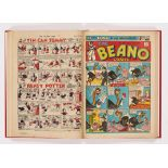 Beano (1945) 249-274. Complete year in bound volume. Propaganda war issues. First 'Six Brands for