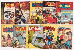 Batman (early 50s K G Murray Australian reprints) low grade issues. 25, 45, 47, 48, 51, 59, 60,