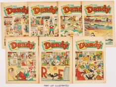 Dandy 1000, 1001 (1961). With Dandy (1967) 43 issues between 1311-1362 (missing 1319, 1322, 1326,