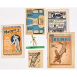Magnet 967 (1926) wfg Stand-Up Cut-Out of Australian Cricket Captain Herbie 'Horseshoe' Collins [