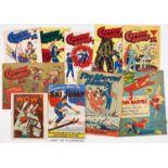 Captain Marvel Jr (L Miller 1940s-50s) 1, 12, 13 (x2), 21, 24, 61, 69, 79 with No 20 (Australian