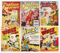 Captain Marvel Adventures (1950s L Miller) 65, 76. With Marvel Family 84 and Whiz 71, 92, 94 [gd/vg]
