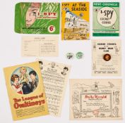 I-Spy for Adventure' Life Membership Kit (News Chronicle late 1950s). Comprising Secret Codes