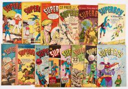 Superboy Australian reprints (1950s) 27, 70, 72, 91, 92, 94, 97-99, 101, 103, 105-107, 115, 118,