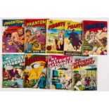 Phantom (1960s L Miller) 6, 8, 9, 12, 13. With Blackhawk 36 and Mr District Attorney 4, 7, 15.