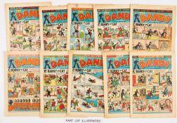 Dandy (1950-56) 461, 462, 471, 472, 494, 529, 545, 556, 635, 738, 739, 743, 760, 778. 4 issues [fn],