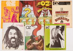 Oz Magazine (1967-69) 6, 16, 17, 21, 23, 24. 6: Mick Jagger on the Stones bust, hippy language