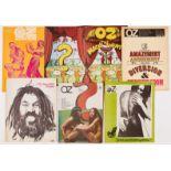 Oz Magazine (1967-69) 6, 16, 17, 21, 23, 24. 6: Mick Jagger on the Stones bust, hippy language