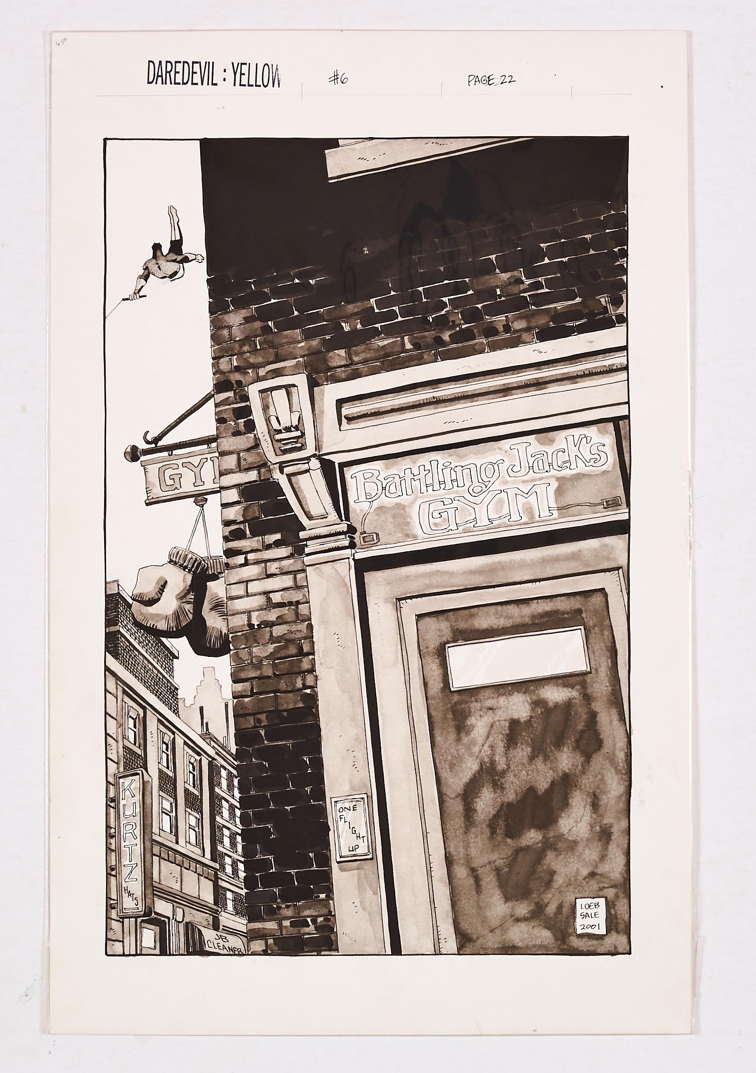 Lot 262 - Daredevil: Yellow # 6 pg 22 original artwork by Tim Sale (2001). After Battling Jack Murdoch's