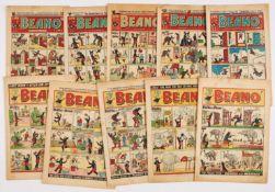 Beano (1948, 1952). 1948: 348, 371, 376, 379, 386; 1952: 512, 524, 528, 531, 543. A few issues [gd],