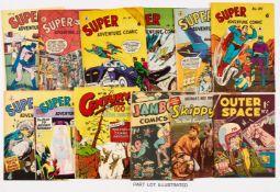 Super Adventure Australian reprints (1950s) 56, 92, 95-97, 100, 101, 114. With Century 18,