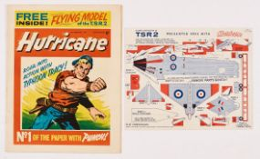 Hurricane No 1 (1964) wfg Flying Model of the TSR2. Bright covers, white pages, rusty staples [fn-/