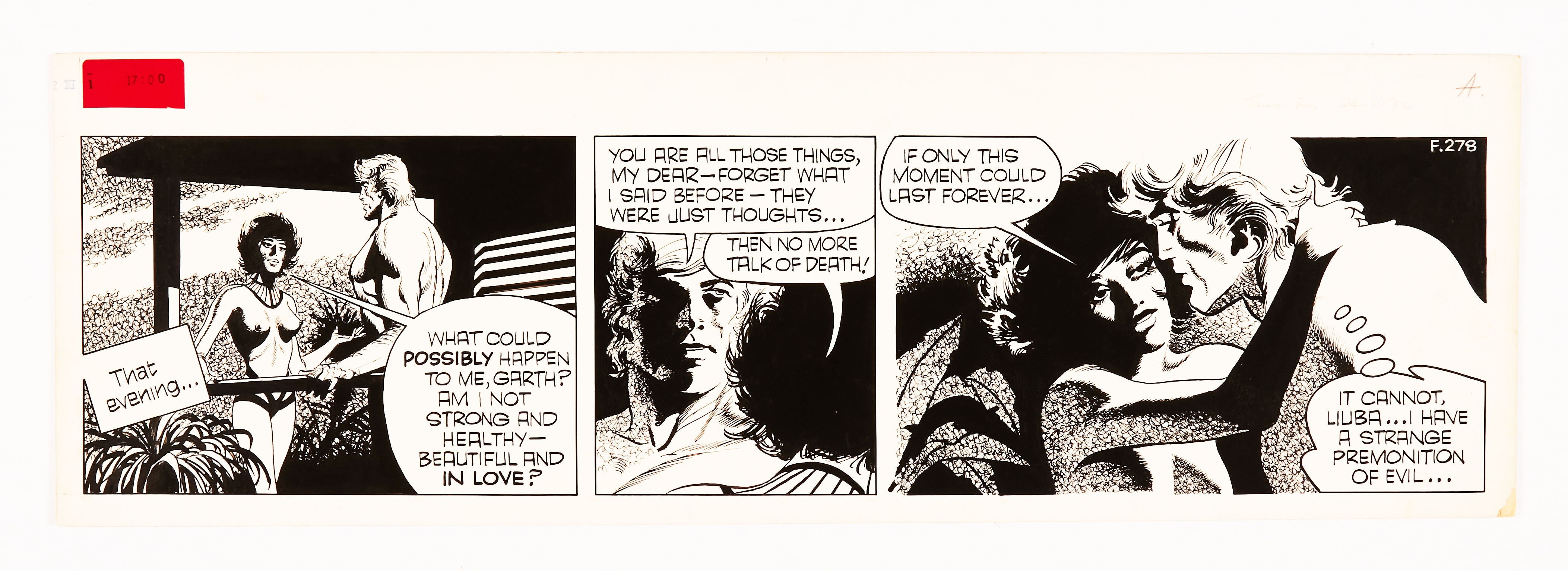 Garth: 'The People of the Abyss' original artwork (1972) by Frank Bellamy for the Daily Mirror 24