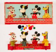 Mickey Mouse Tidley-Winks game (1930s) by Chad Valley. Figures bright and fresh, Pluto's yellow