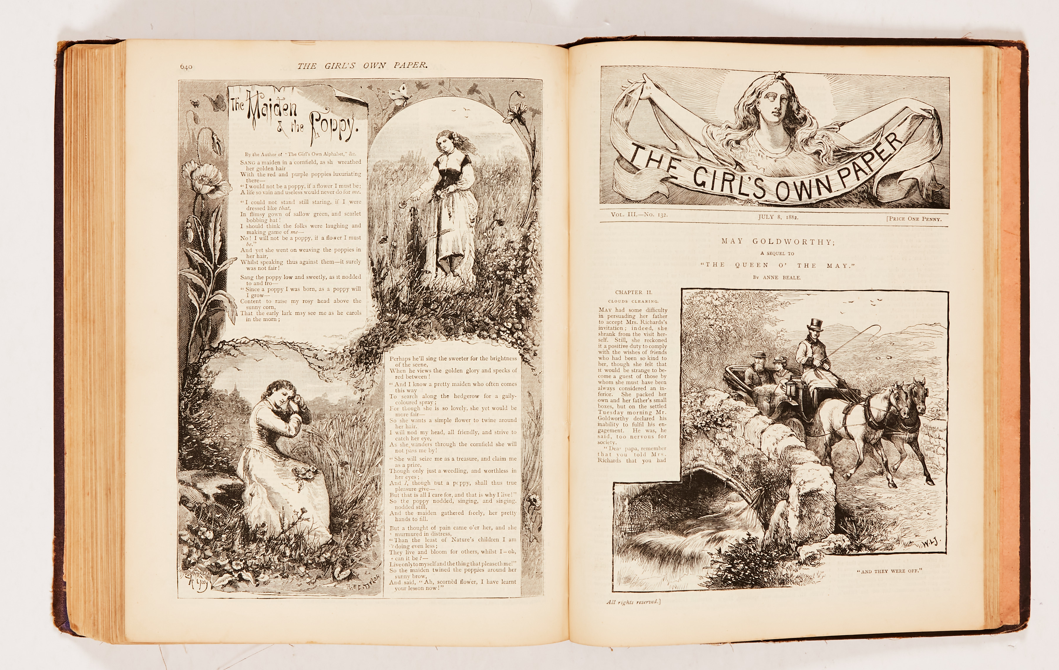 The Girl's Own Paper (1882) 106-135. Worn cloth binding. Interior pages [fn-/fn+] (20) - Image 4 of 4