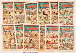 Dandy (1948) 360-385. Complete year, issued fortnightly, including No 384 Extra Special Dandy