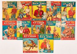 Cowboy Comics (1950) 19-30. Starring Buck Jones, Tim Holt and Kit Carson. No 30 is last 7d issue.