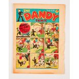 Dandy No 24 (1938). Bright cover with tears to RH margin overhang, cream pages [vg]