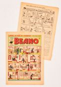 Beano 452 (1951) 1st Dennis the Menace [vg-]. No Reserve