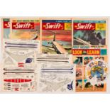 Swift (1962) Vol. 9. Nos 5-8. All wfg model planes: Vickers Vanguard, VC 10, Comet and Boeing 707.