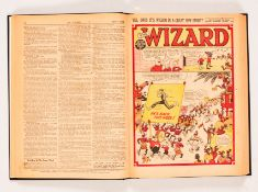 Wizard (1948) 1158-1196. Complete year in bound volume, some issues fortnightly. Starring Wilson and