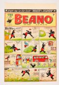 Beano/Biffo the Bear front cover original artwork (1953) drawn, painted and signed by Dudley Watkins