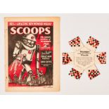 Scoops No 1 (1934) 'The UK's first Science-Fiction Weekly.' With free gift Scoops Checkerboard