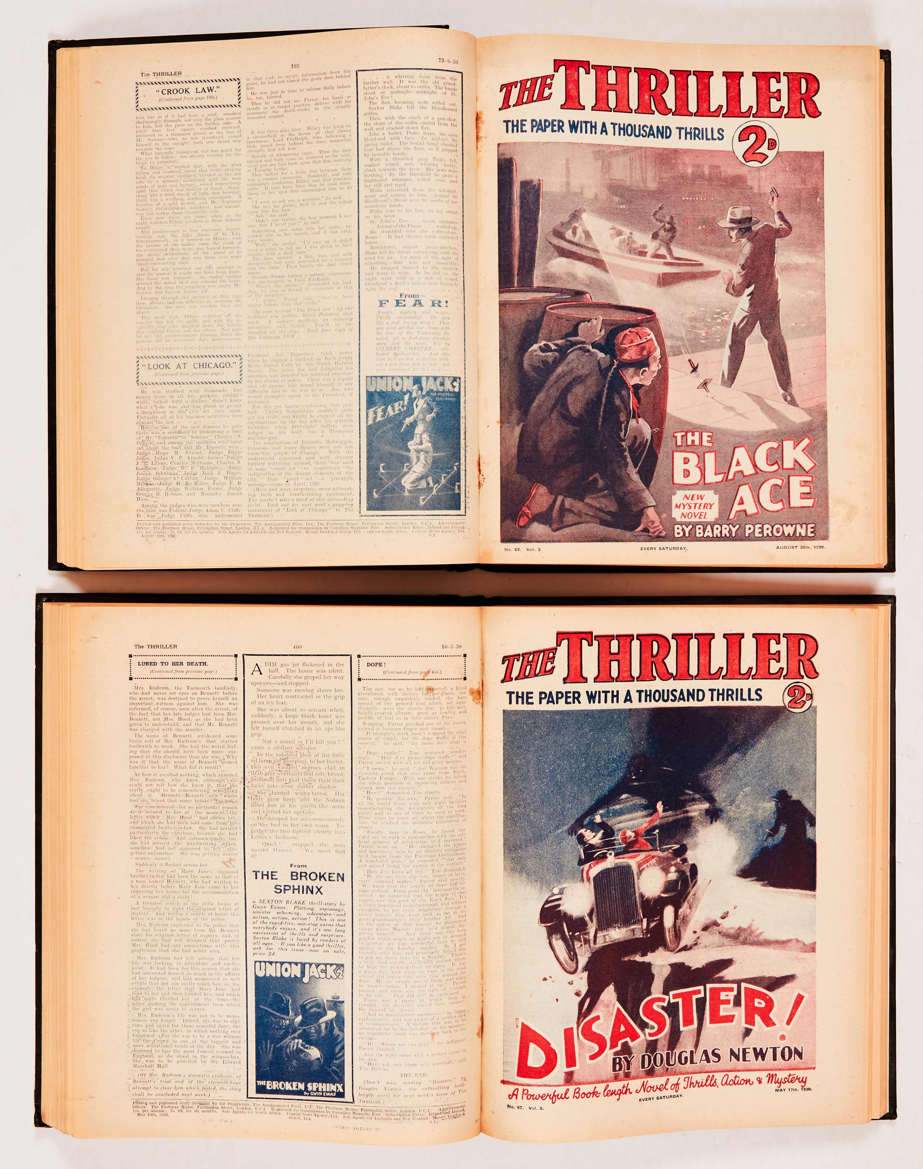 Thriller (1930) 48-99. Complete year in two bound volumes including stories by Edgar Wallace, Leslie - Image 2 of 2