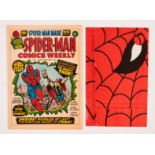Spider-Man Comics Weekly No 1 (1973) wfg Spider-Man Mask [fn/vfn]