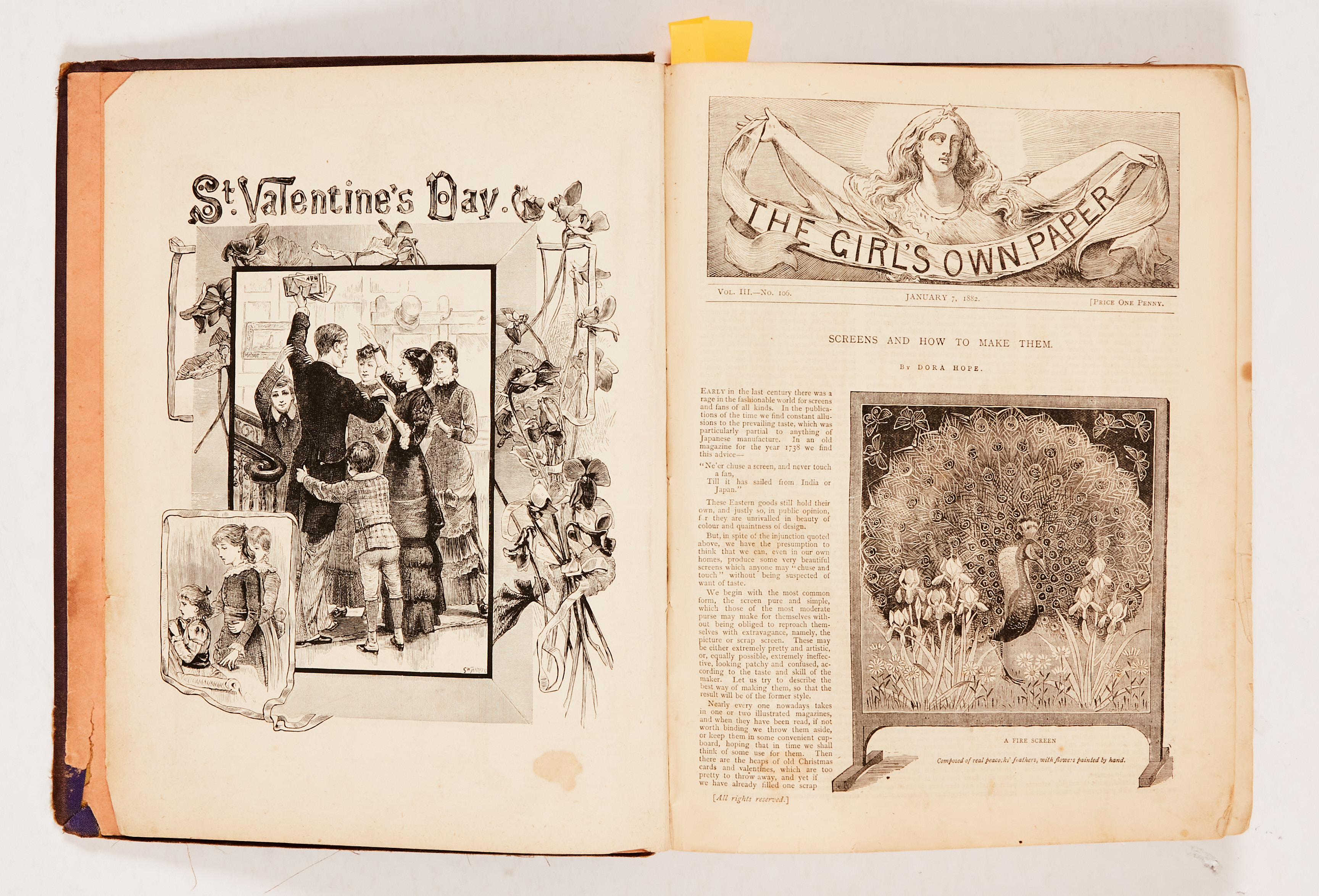 The Girl's Own Paper (1882) 106-135. Worn cloth binding. Interior pages [fn-/fn+] (20)