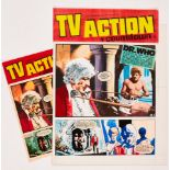 Doctor Who original cover artwork by Gerry Haylock for TV Action No 67 May 27 1972. With original