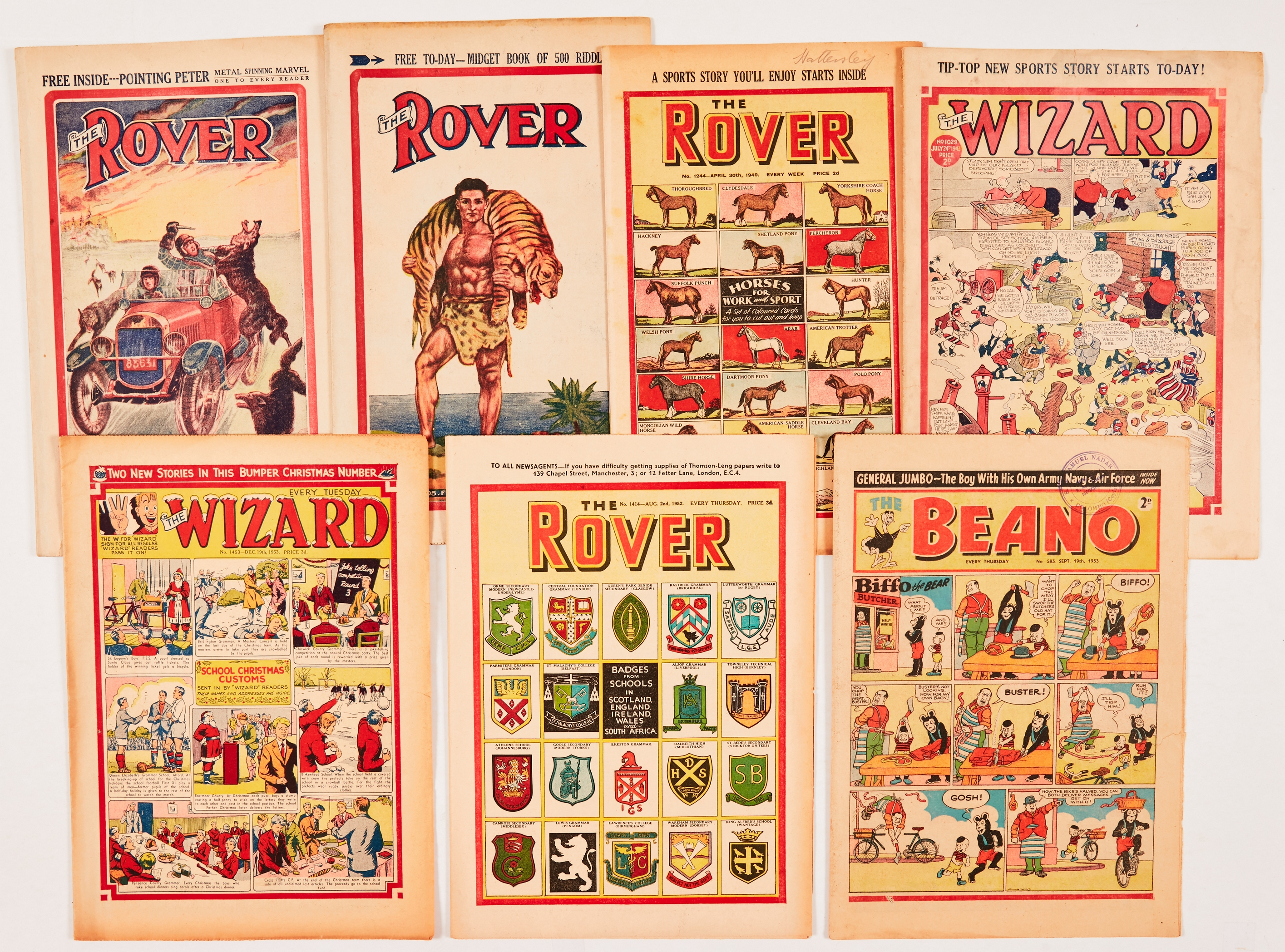 Major character first appearances (1928-53). Rover 304 (1928) 1st Morgyn The Mighty, 305 1st