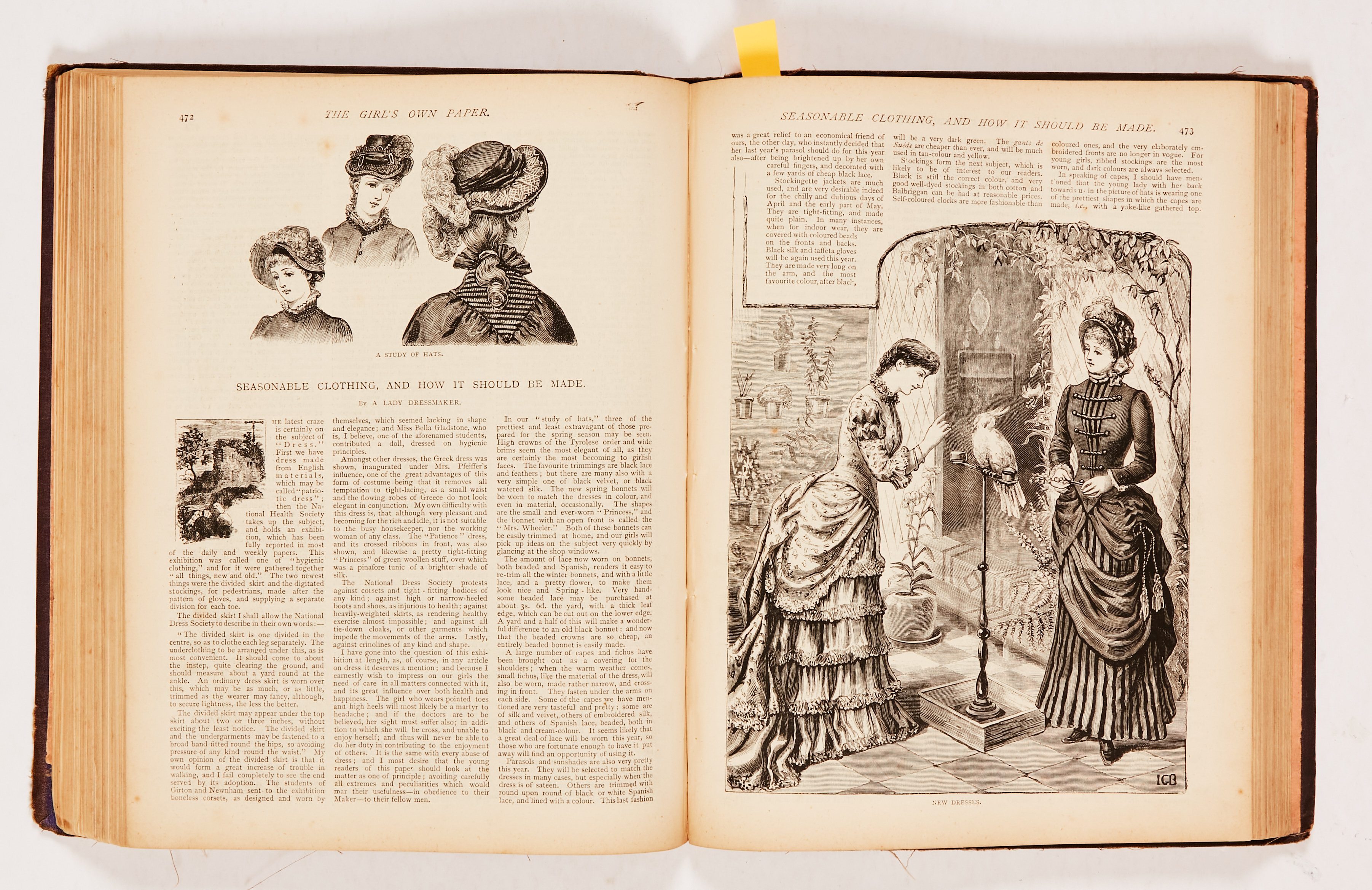 The Girl's Own Paper (1882) 106-135. Worn cloth binding. Interior pages [fn-/fn+] (20) - Image 3 of 4