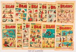 Beano (1951) 442-493 including 452 1st Dennis the Menace (missing: 444, 460, 468, 472, 487, 492
