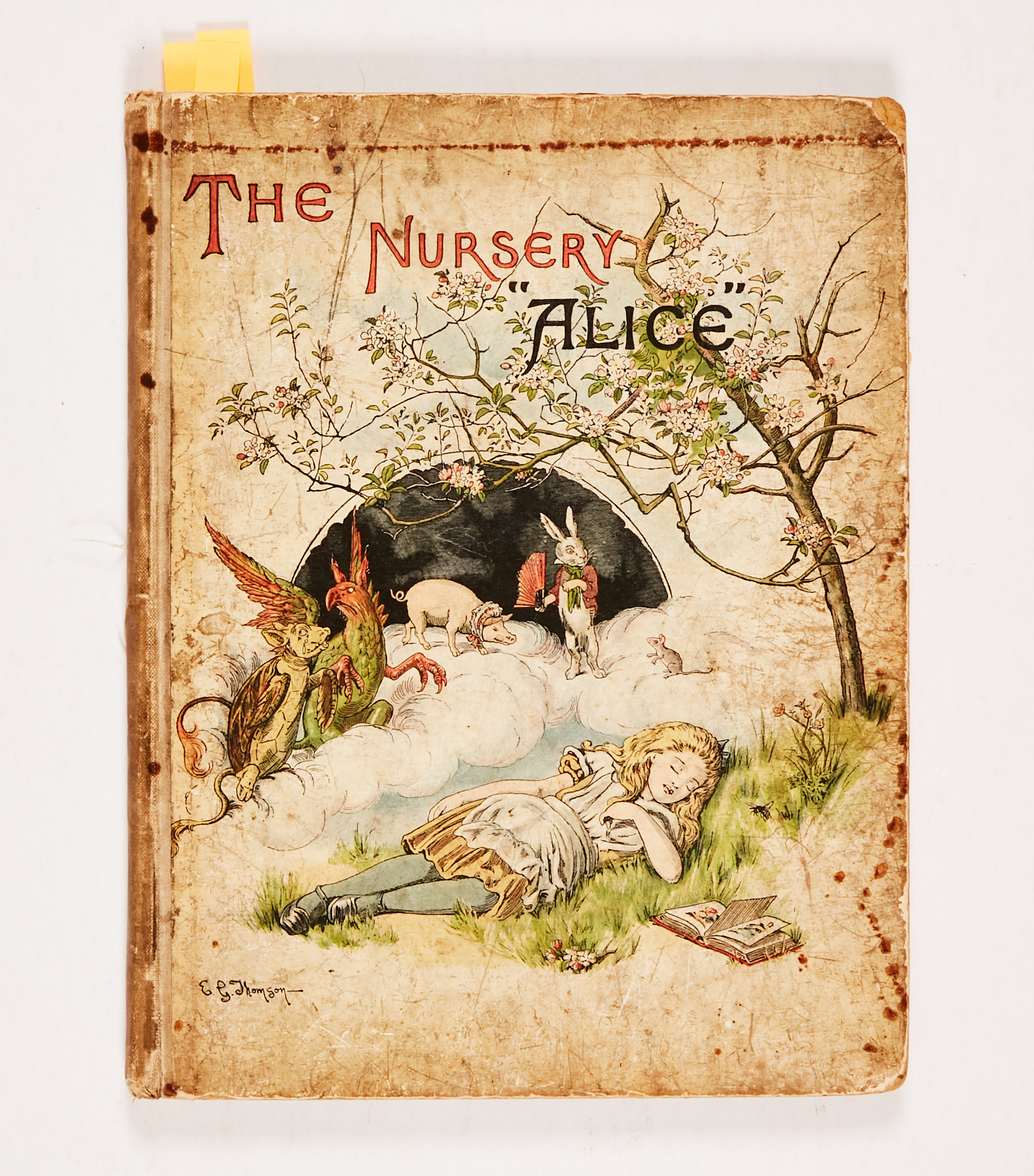 """The Nursery """"Alice"""" (1890 MacMillan and Co). Second edition containing 20 coloured enlargements from"""
