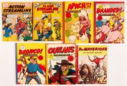 Cowboy Comic Albums (1950s). Action Streamline Comics, Flash Streamline Comics, Apache Picture &
