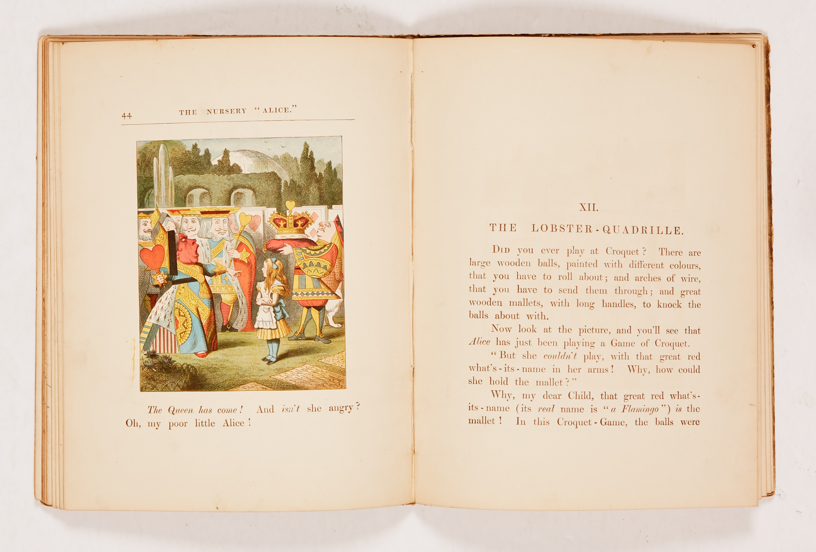 """The Nursery """"Alice"""" (1890 MacMillan and Co). Second edition containing 20 coloured enlargements from - Image 4 of 4"""
